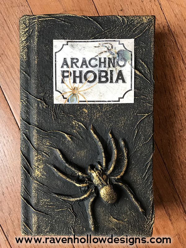 Second finished book with spider