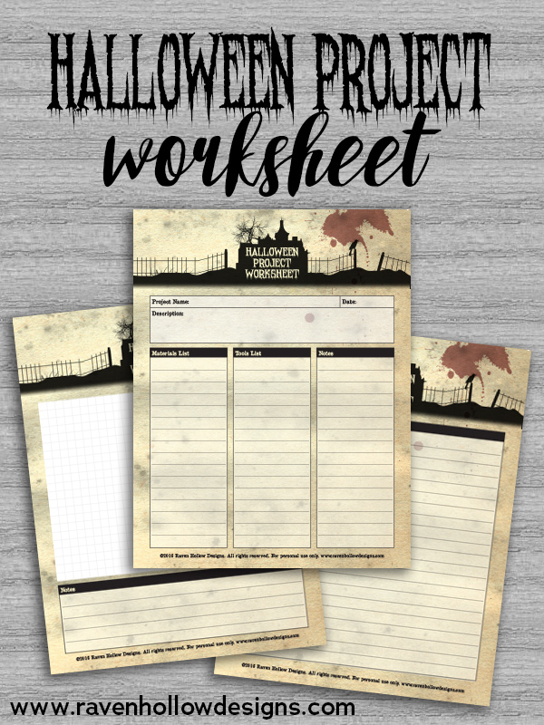 Halloween Project Worksheet
