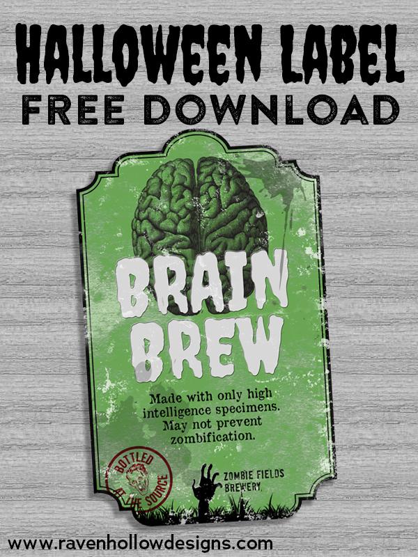 Halloween label - free download