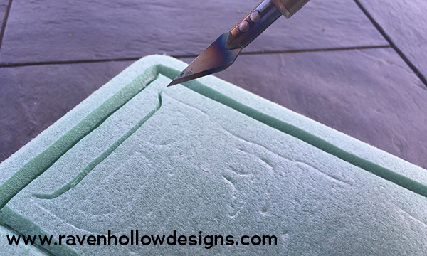 Carving foam with hot knife