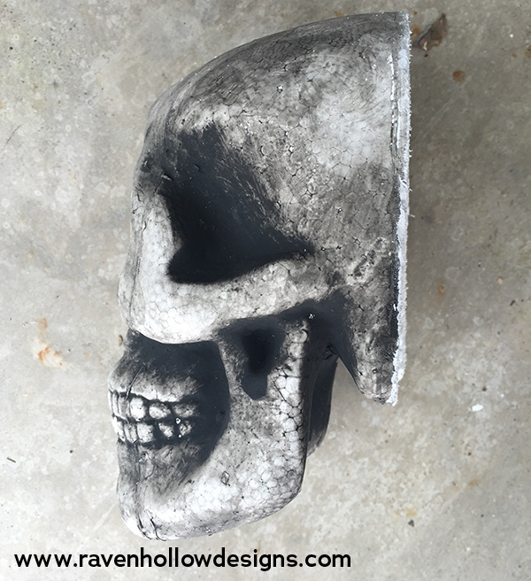 skull cut to fit wreath