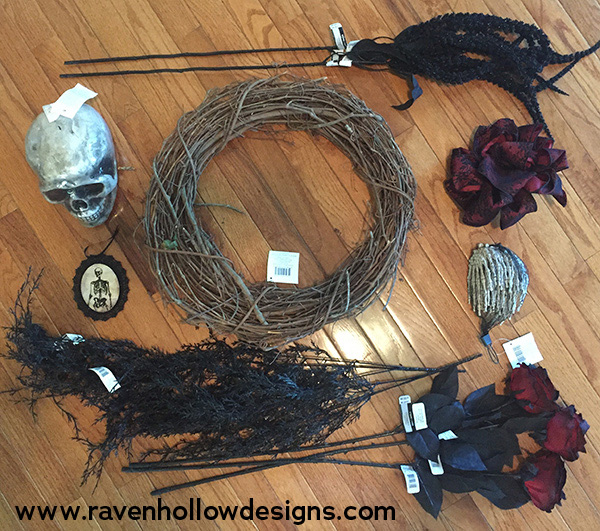Halloween wreath elements